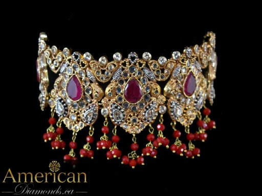 Polki Ruby Warda Choker Set