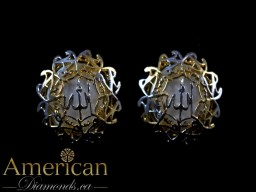 Allah Muhamad gold plated earrings - 10818