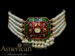 Meenakari choker and earrings set - 11120