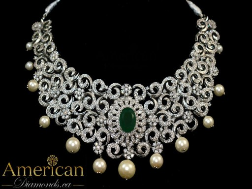 Cubic zirconia Khizra necklace set