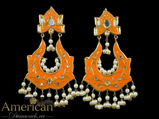 Grey Meena Mirror Earrings