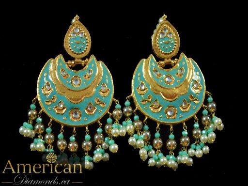 Mint Meena Mirror Earrings