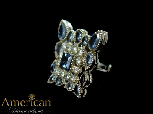 Square Stone Ring - Size 8