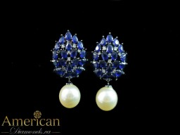 Marquise Pearl Studs